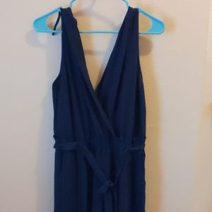 Blue romper w pockets